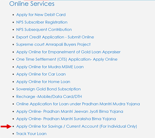 apply online for savings account