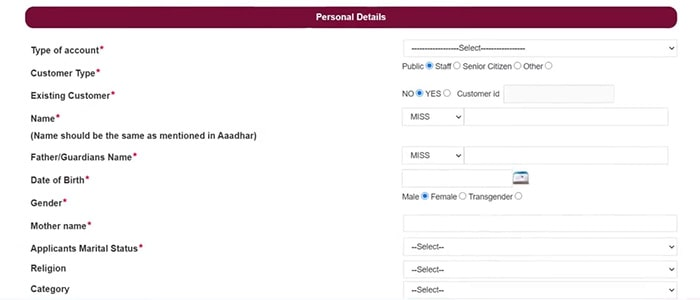 pnb bank account opening online