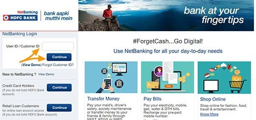 Welcome-to HDFC Bank NetBanking