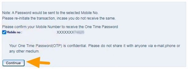 confirm mobile number