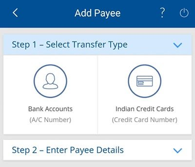 select transfer type