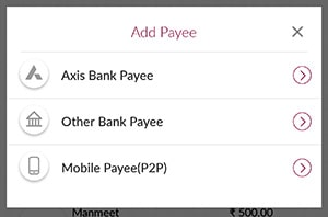 axis bank add beneficiary