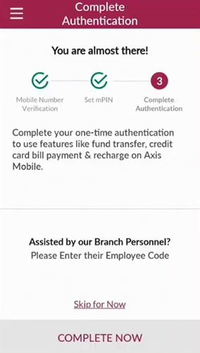 axis bank mobile banking registration complete now