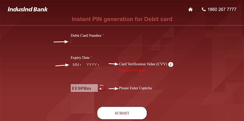 instant pin generation for debit card