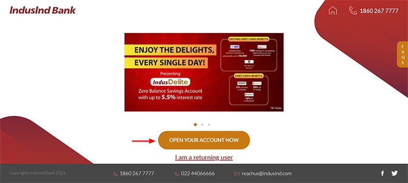 open your account now
