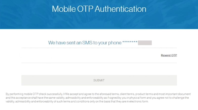 otp authentication for standard chartered bank savings account