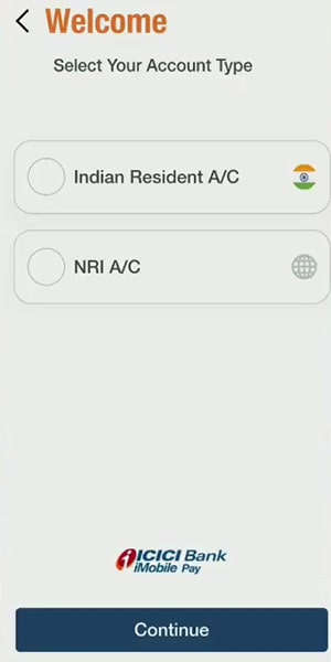 select your account type