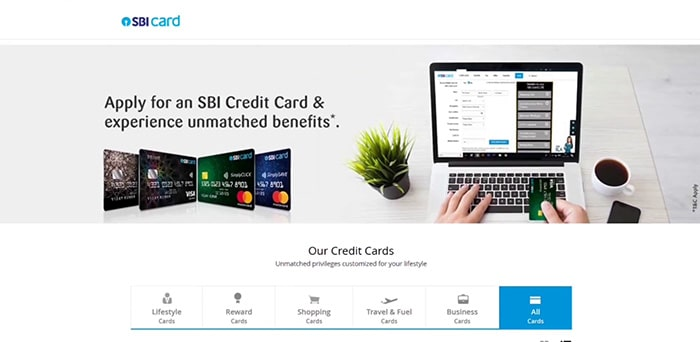 apply for an sbi credit card & experience unmatched benefits