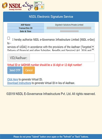 enter aadhar number nsdl for groww app account opening