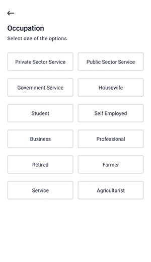 select occupation for groww app account opening
