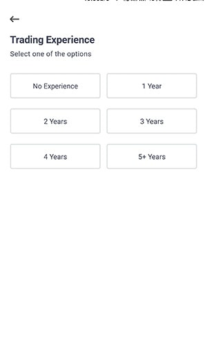 select trading experience for groww app account opening